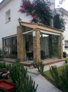Instalación de cortinas de vidrio